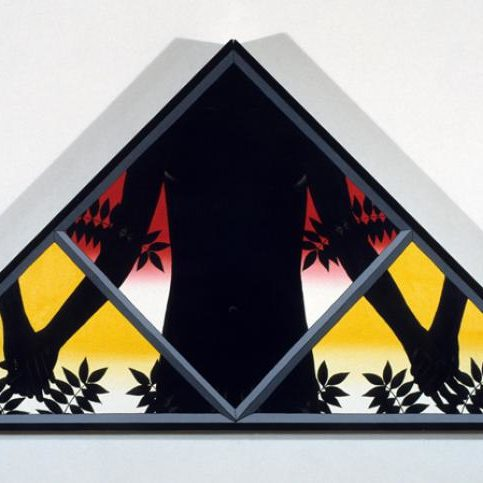 Roger Brown, Pediment, 1983, oil on canvas, 48.5 x 72 in.